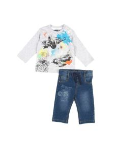 LOSAN COMPLETINO JEANS+T-SHIRT INFANT BOYS