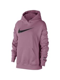 NIKE W NSW SWOOSH HOODIE FT FELPA DONNA IN GARZATO